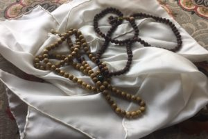 Tibetan prayer beads from Tibet. Lotus seeds. Tears of Shiva. Malas. Tibet travel.
