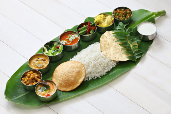 South India retreat. Cuisine.